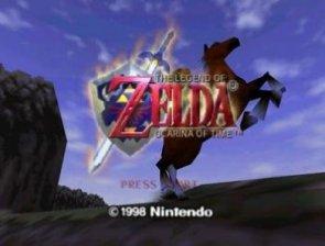 Zelda title screen