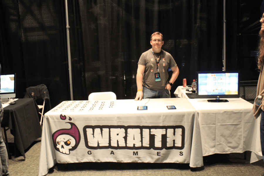 Jay manning the booth at OGDE 2015.png
