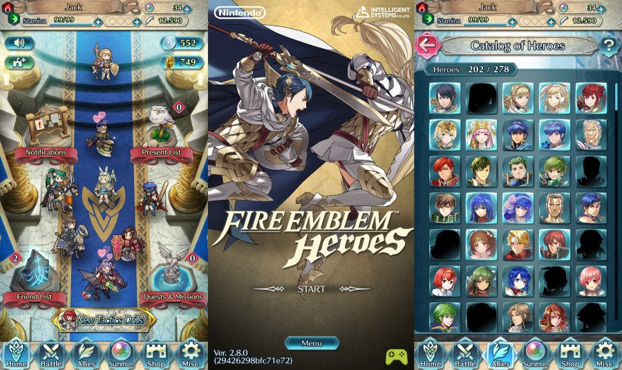 Fire Emblem Heroes Version 2.9.0