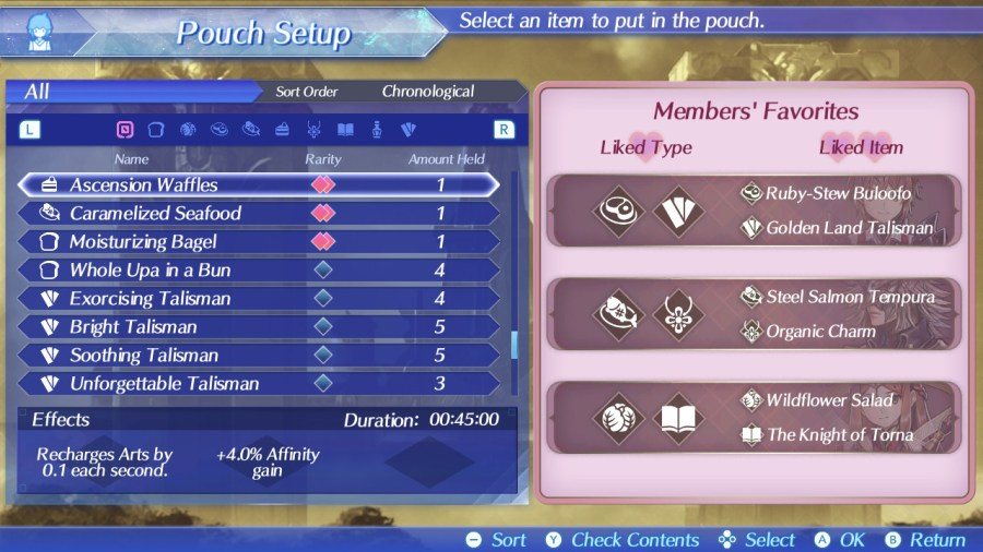 Torna favorite pouch Items