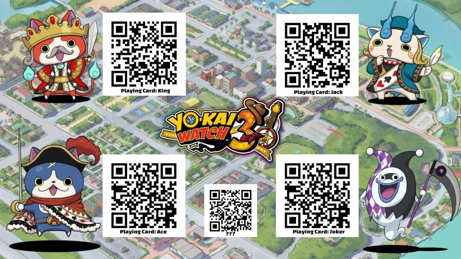 Guide] List of officially released QR codes for Yo-kai Watch