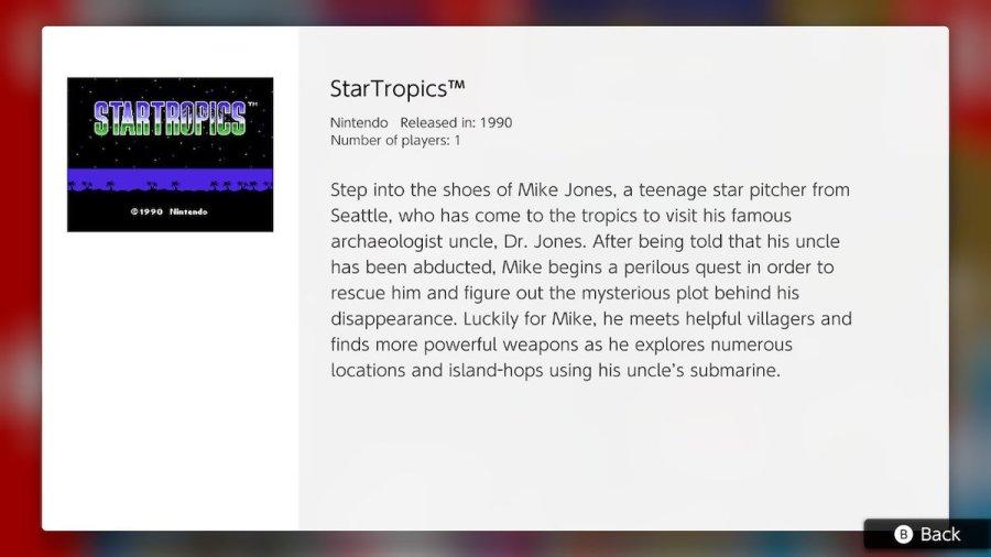 StarTropics NES