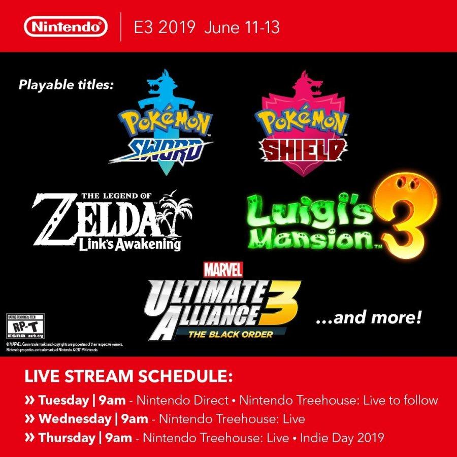 Nintendo E3 2019 Playable Games