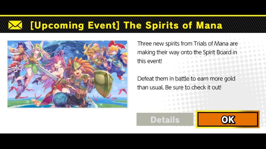 Spirits Of Mana event