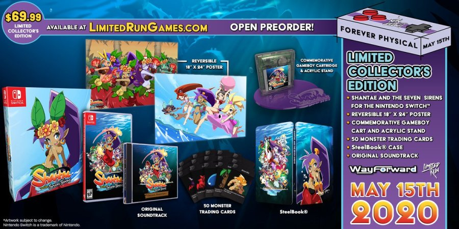 Shantae And The Seven Sirens Collectors Edition