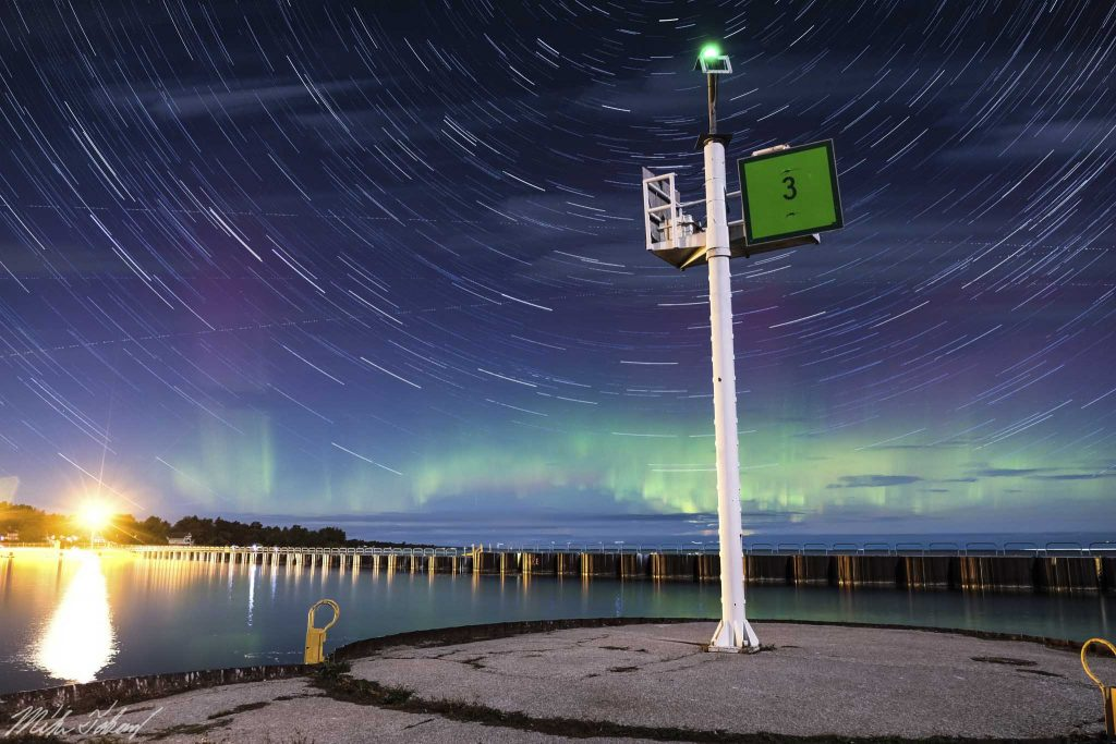 Northern Lights at Port Sanilac