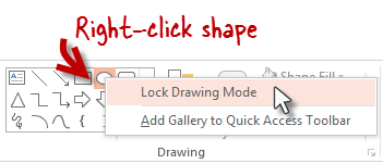 #394 PowerPoint's Lock Drawing Mode