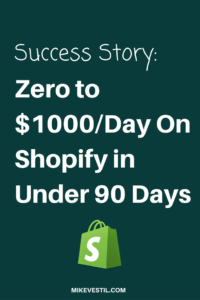 Find out how a student went from zero to $1000Day on shopify in under 90 days