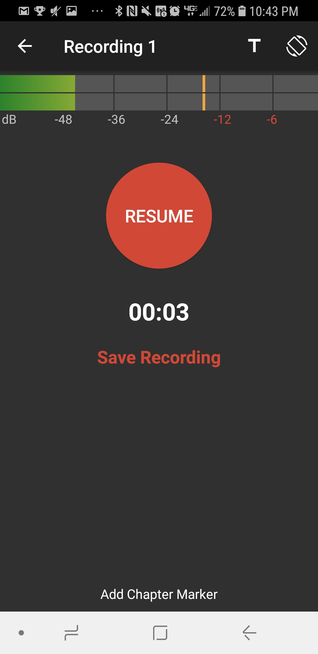 Stop Recording and Save