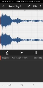 You can edit the wave file in app