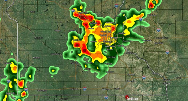 Intellicast Screenshot of Storm