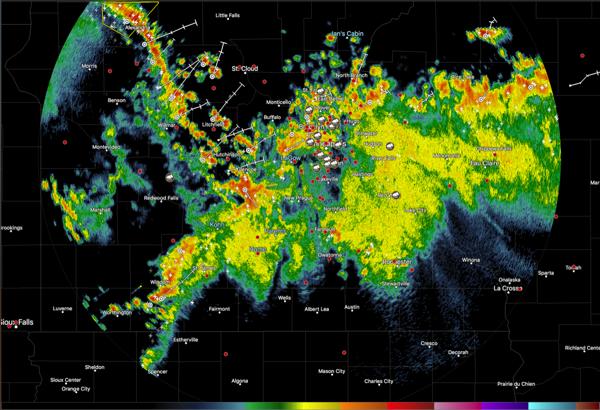 Radarscope Screenshot of Storm