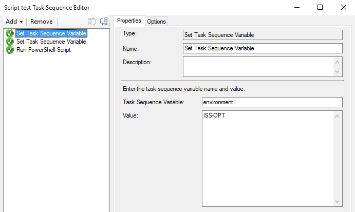 Add Custom Task Sequence Variables and Read them in PowerShell