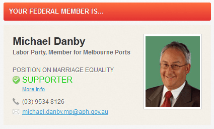 20120921 Michael Danby on Marriage Equality