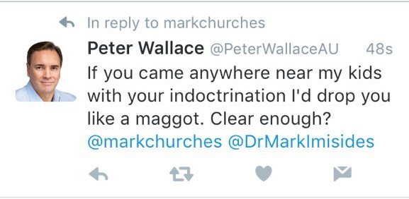 Peter Wallace threat Aug 31 2016