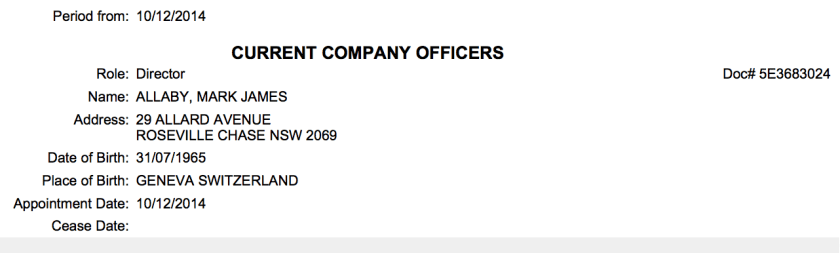 20180531 Mark Allaby LMI Director ASIC Register