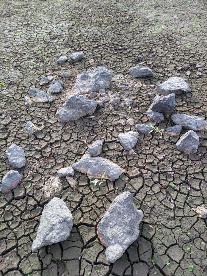 Rocks on the mound