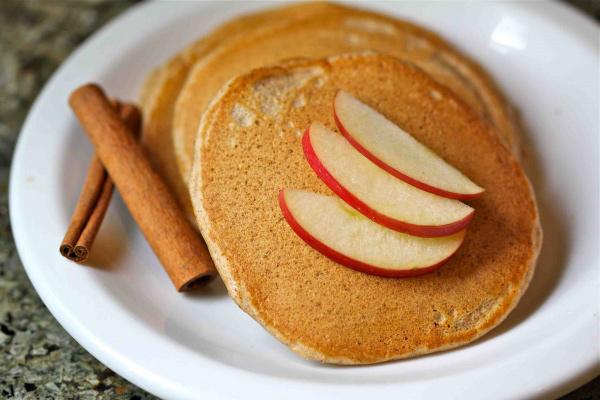 heart healthy apple pancakes