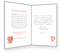 Mikey Network Personalized Donation Card