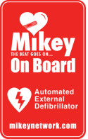 mikey on board sticker