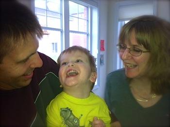 Craig, Jennifer and Carter Hansen A Mikey's Kids family