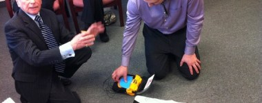mikey on board defibrillator demonstration