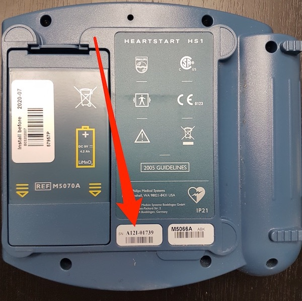 phillips AED serial number