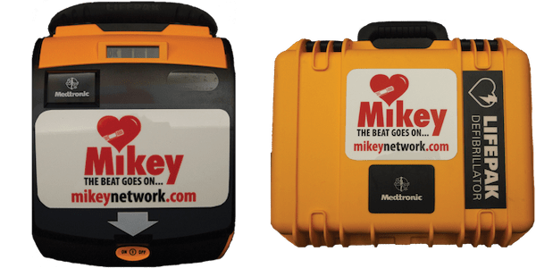 medtronic MIKEY AED and case