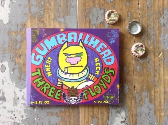 Gumball Head beer notebook