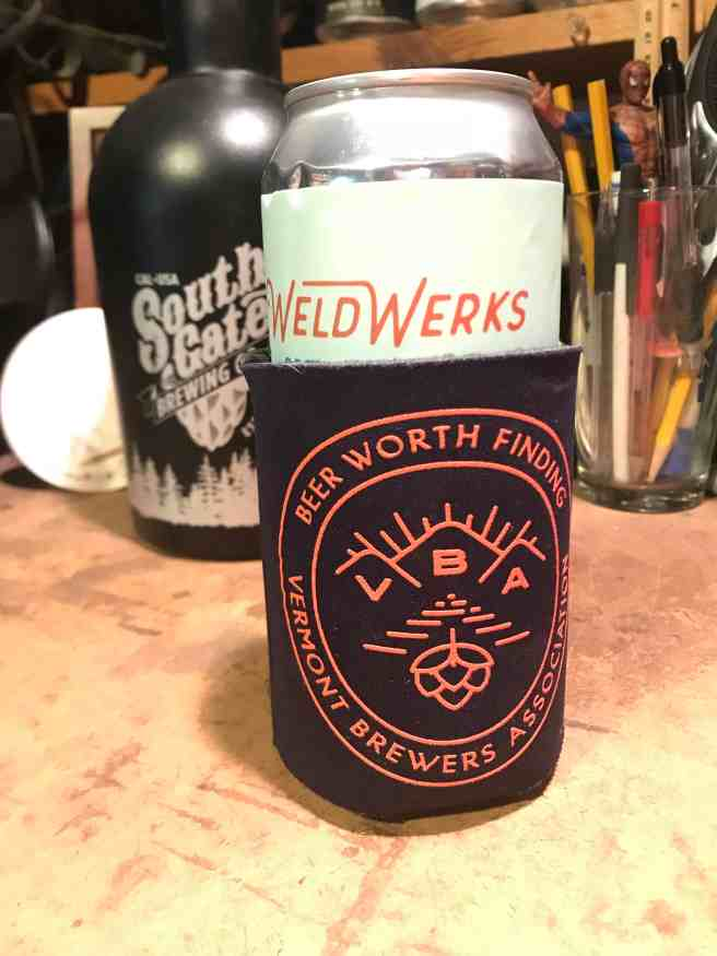 Vermont Brewers Association can koozie