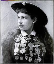 Annie Oakley with medels