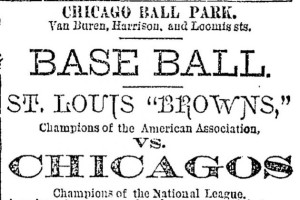 Chicago World Serise 1886 flyer