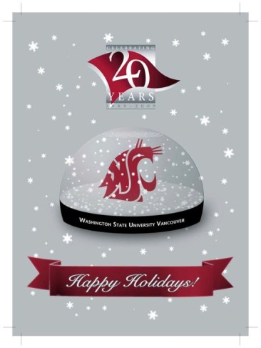 WSU Vancouver 2009 Holiday Card