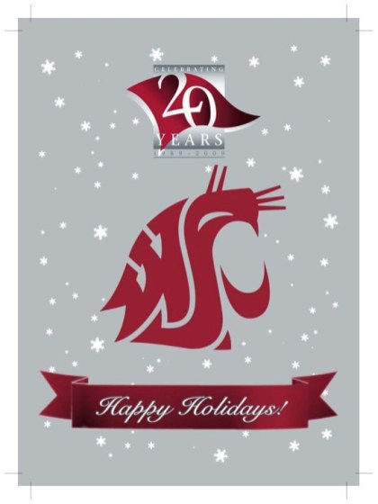 WSU Vancouver 2009 Holiday Card version 2