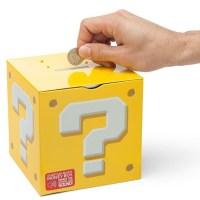 コインを入れるとあの音が鳴る!「ハテナブロック」型の貯金箱が楽しそう