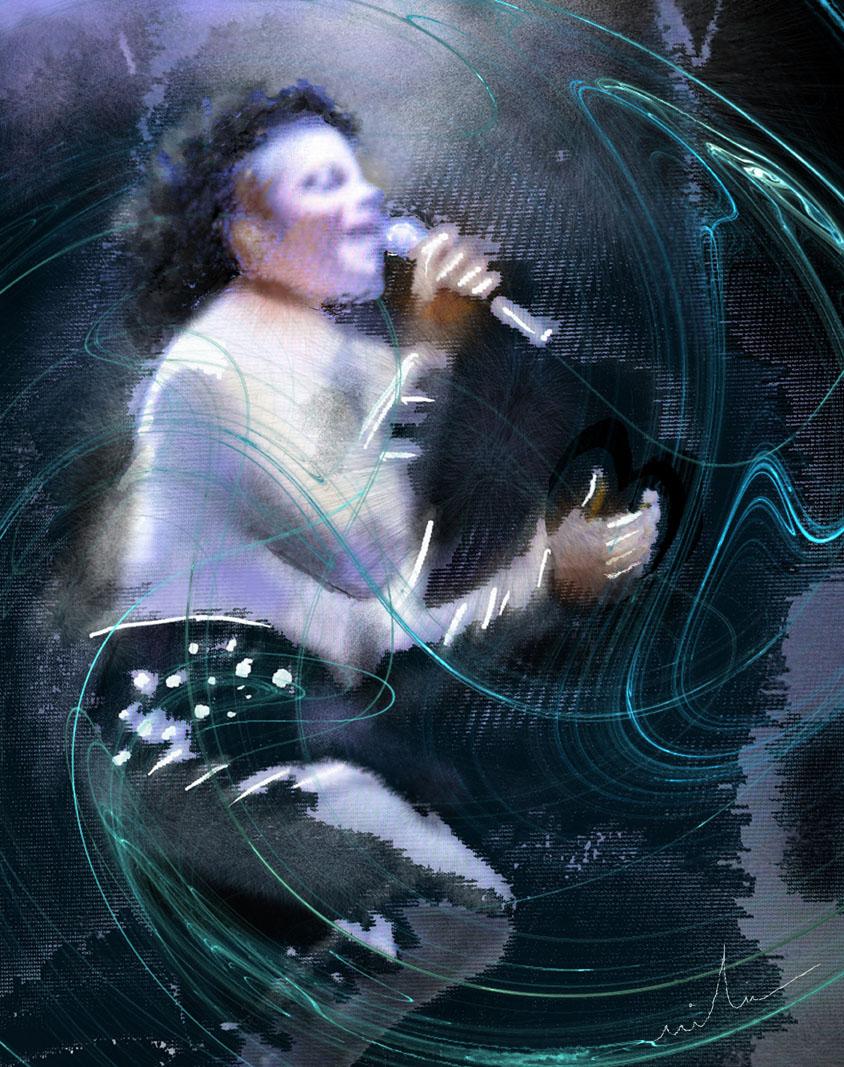 Michael Jackson En Peinture Par Miki De Goodaboom