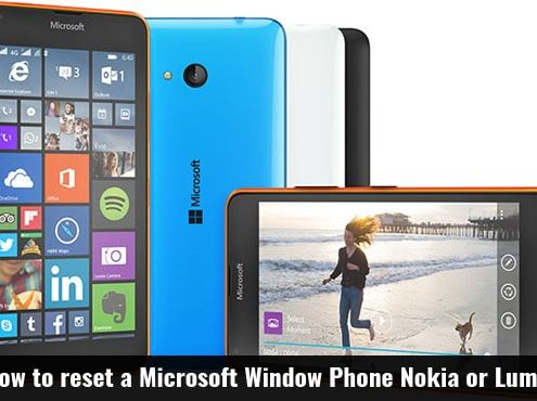How to reset a microsoft Window Phone nokia or lumia