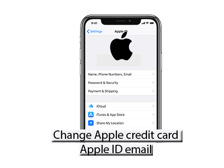 update Apple credit card details and email address