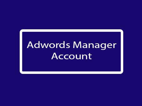 adword mnager account