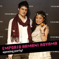 EMPORIO ARMANI AOYAMA opening party!