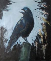 Black Bird, Oil on canvas, 70x50 cm