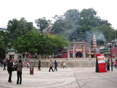 Entrada do Templo A-Má em Macau