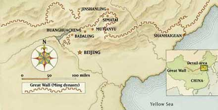 Mapa da Muralha da China pela National Geographic