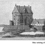 Slottet tegnet av Erik Dahlberg i 1658.