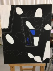Oil and Gesso: First phase