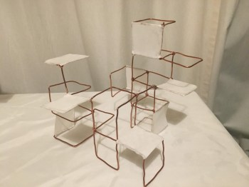 Bronze wire and Japanese paper