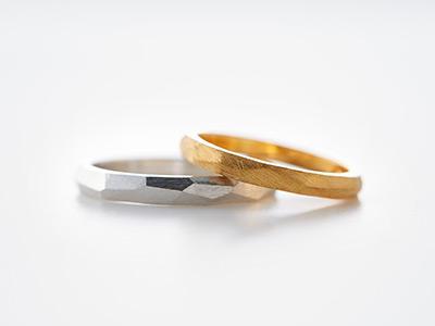 多面 結婚指輪
