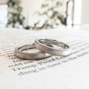 ミルグレイン マット 結婚指輪