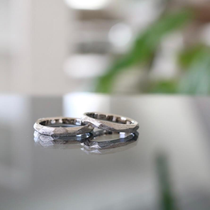 カジュアルなデザインの結婚指輪|様々なオーダー実績の紹介
