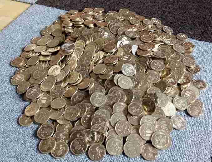 実際に500円玉を数えてみました